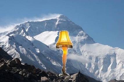 Mount Everest + Leg Lamp from A Christmas Story = Math Fun!